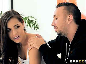 Alina Lopez takes it deep from strung up soccer coach