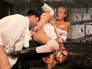 Fairytale babe Samantha Saint gets to shag her prince