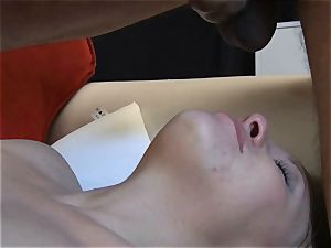 diminutive ash-blonde cheating demonstrates her oral job and fellate