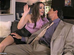 Tori ebony sates her man's bone making it indeed rock hard to handle