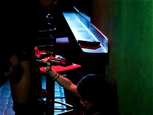 Asa Akira blows one gigantic bbc in disco