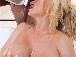 big-chested blonde Summer Brielle penetrated deep in her oily labia