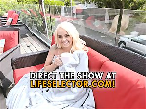 Elsa Jean - lovely blonde with tight coochie enjoys to tear up