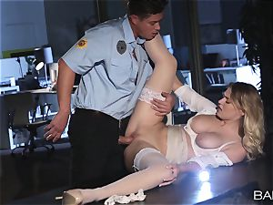 Natalia Starr poked by the night security guard