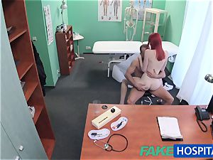FakeHospital cute ginger-haired rides doc for cash