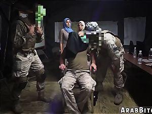 Arab mega-slut Sneaking in the Base!