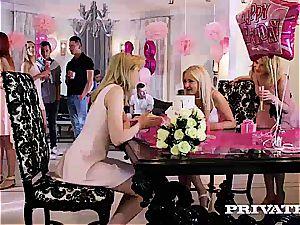 torrid ladies make their soiree even nicer adding rigid lollipop to the menu