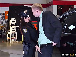 warm cop Ava Addams takes advantage of a chance take hold of